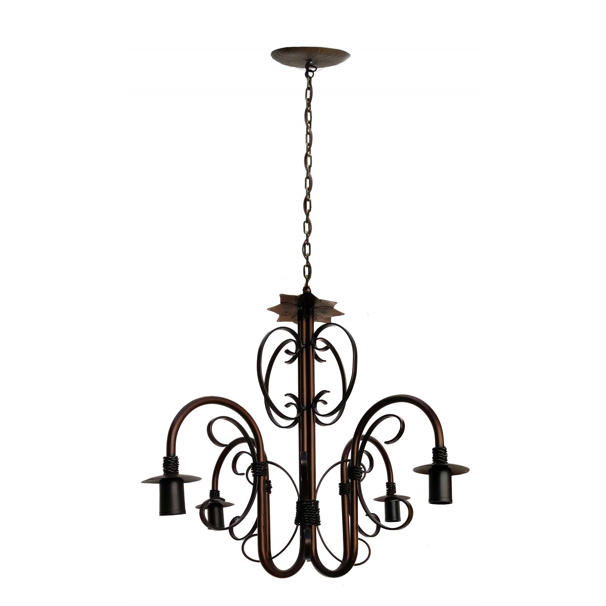 Lustre para Sala de Visitas Decorativo em Metal Artesanal Luminária Bom Preço