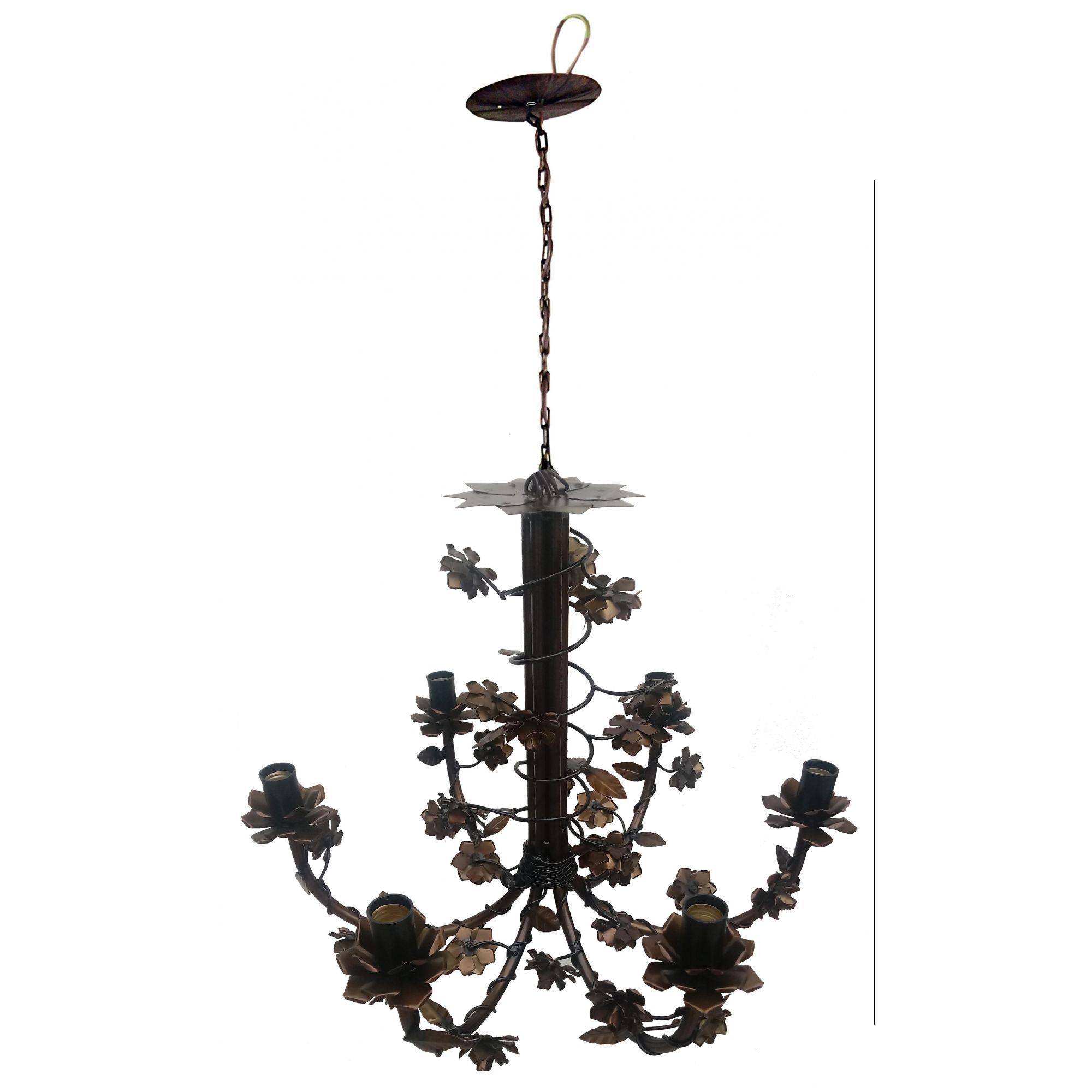 Lustre para Sala Iluminação Interna Artesanal Mineira Colorida Melhor Preço