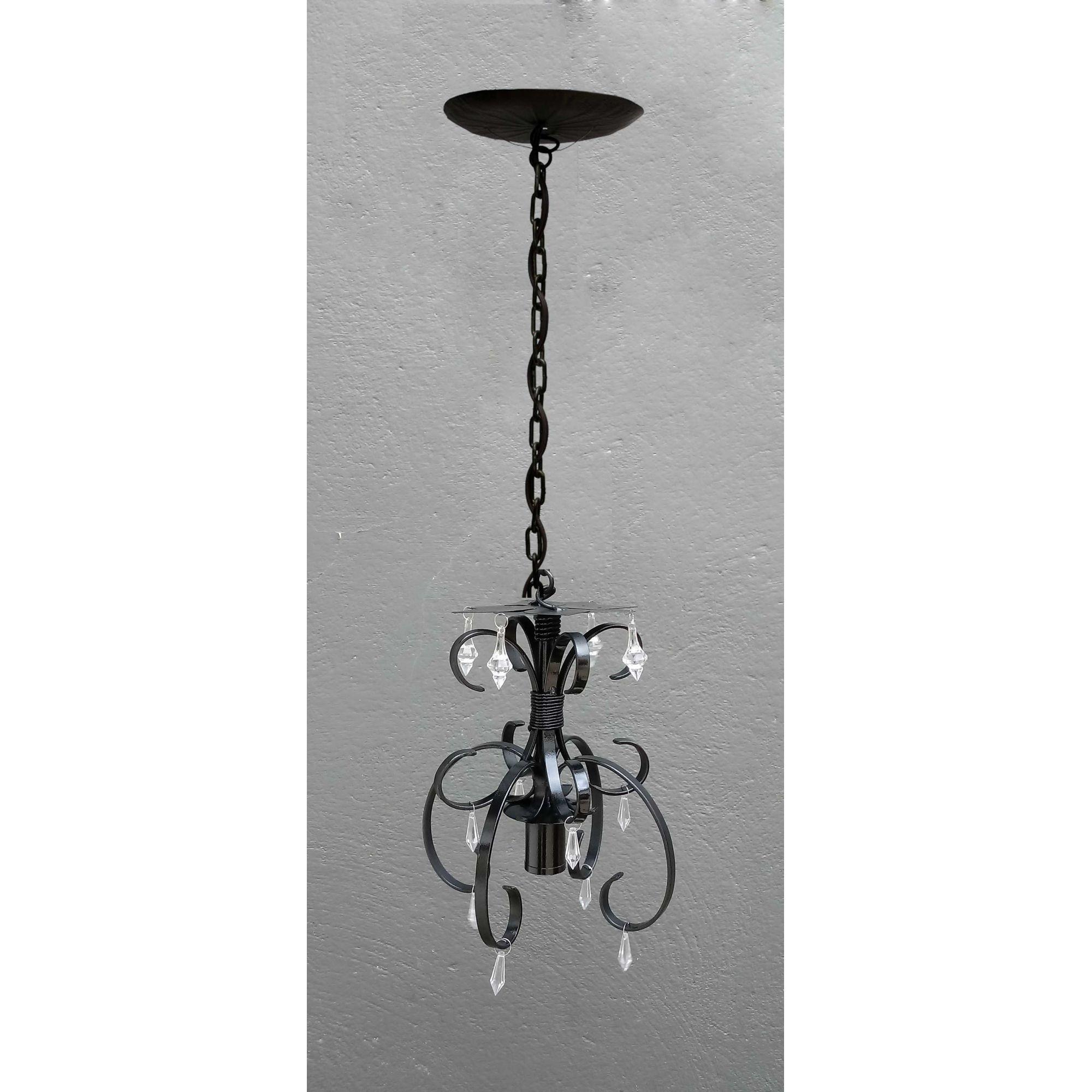 Lustre Pendente Decorativo Pequeno para Iluminação Sala Conjugada Simples