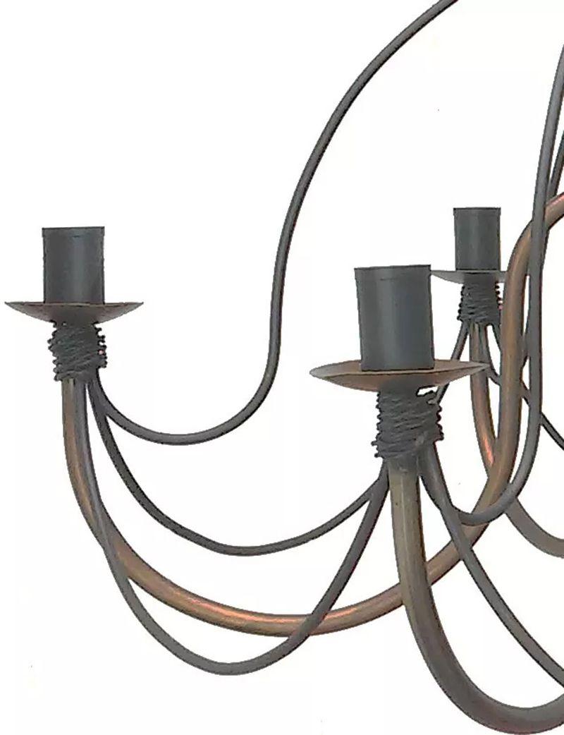 Lustre Artesanal De Metal Rustico Para Decoração Quarto De Apartamento