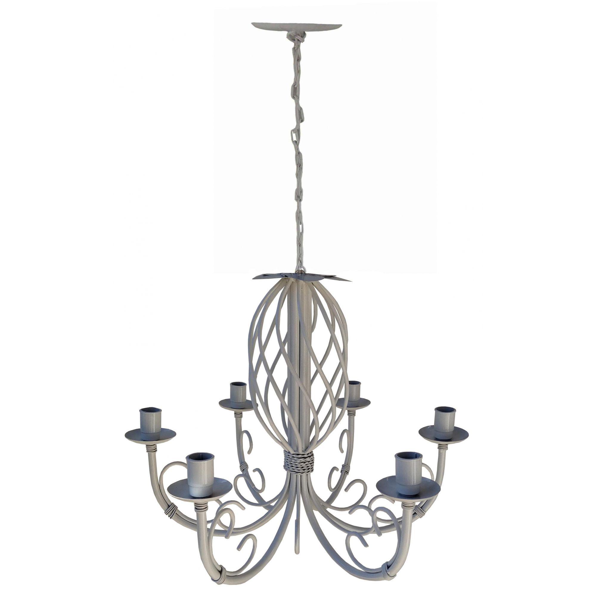 Lustre Provençal Artesanal Decorativo para Iluminação de Ambiente Interno e Externo