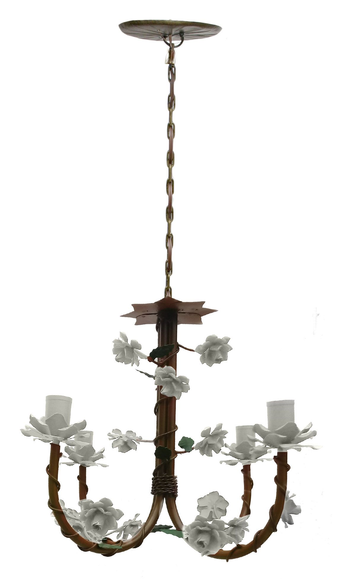 Lustre Rustico Artesanal em Ferro e Lata Decoração de Sala Pequena