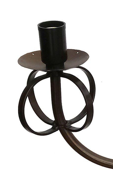 Lustre Simples Barato de Ferro Rustico para Cozinha ou Quarto