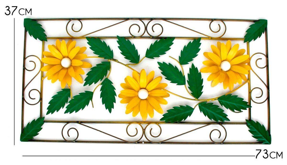 Moldura Arabesco de Ferro para Parede Classica com Flores Artesanais