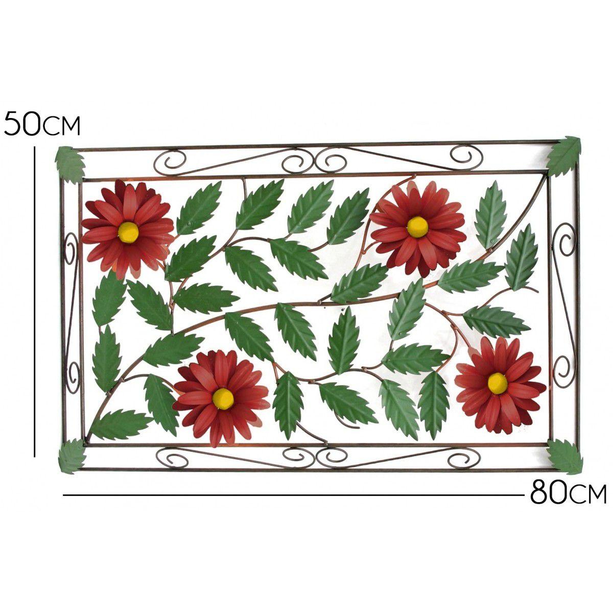 Moldura Artesanal de Ferro Colonial Rustico para Parede com Flores