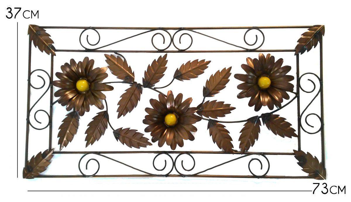 Moldura com Flores Rustica Artesanal para Sala de Estar feita de Ferro