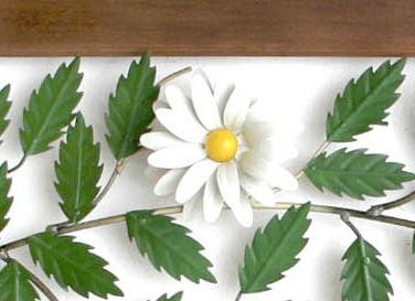 Painel de 1,80 metros com Flores Brancas Rústico para Parede