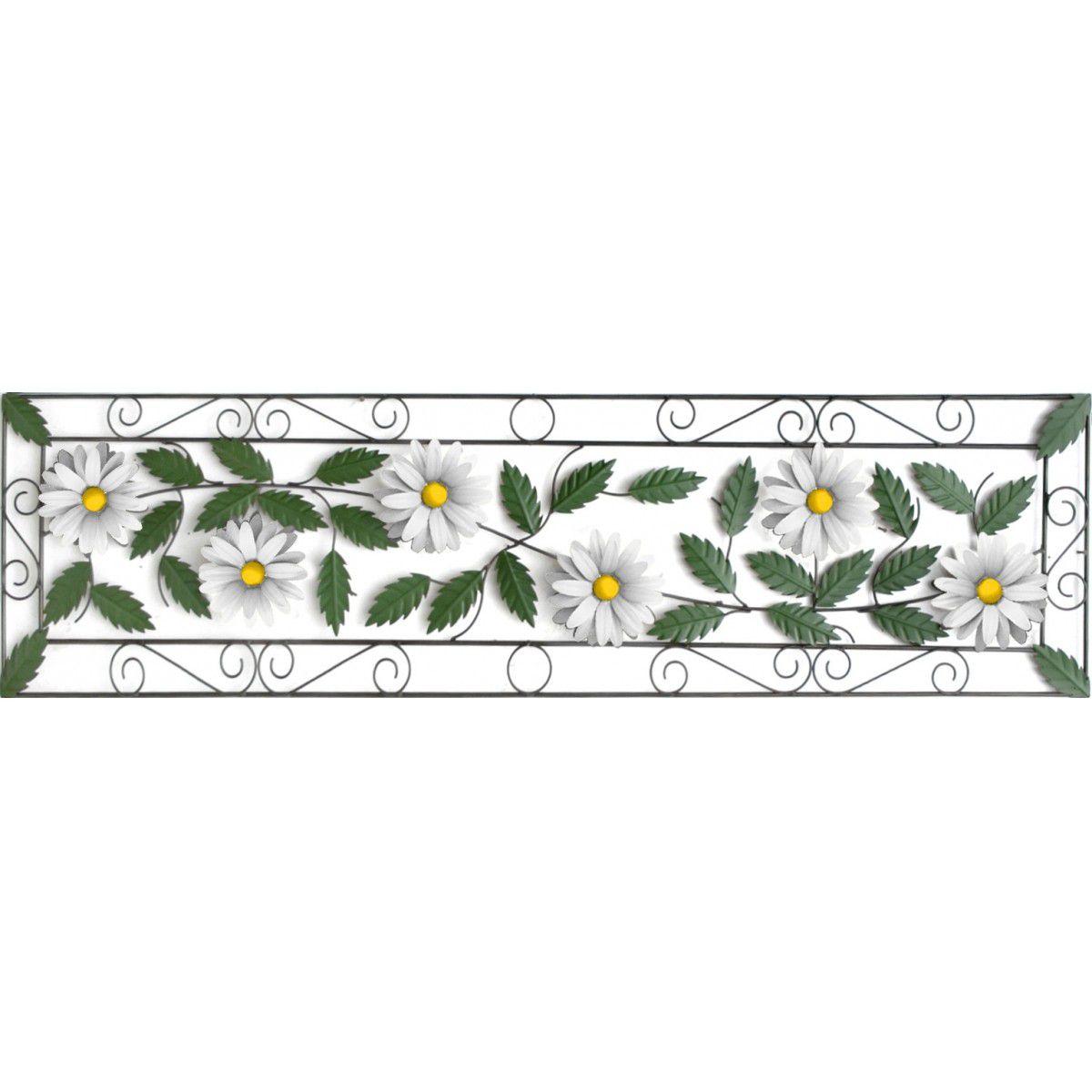 Moldura de Flores Artesanais em Ferro Classica para Parede