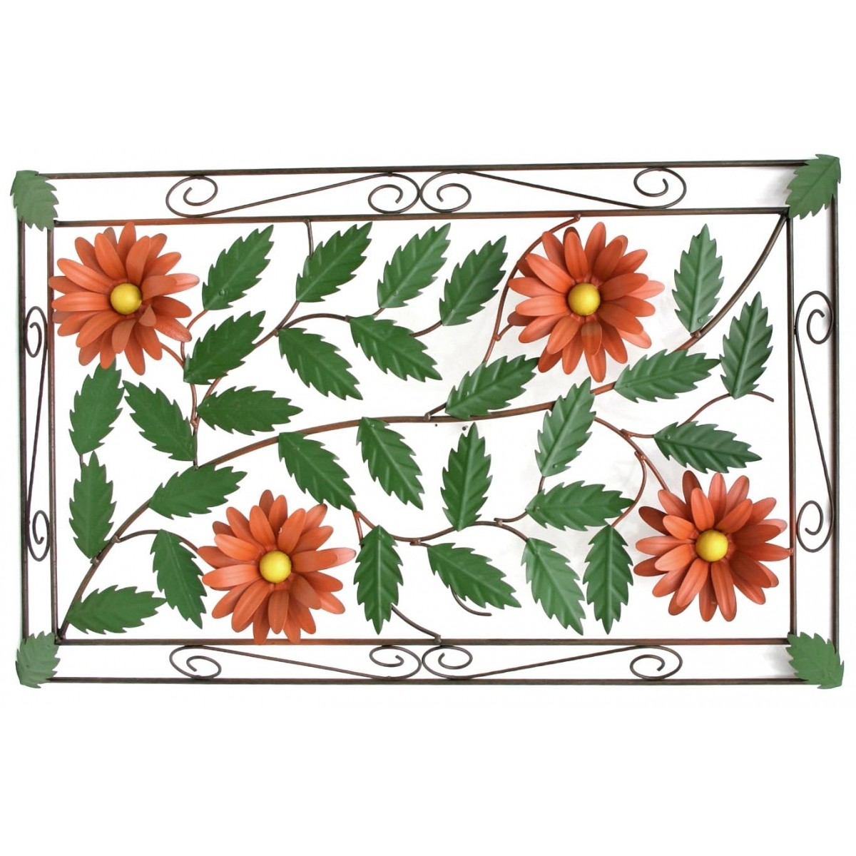 Moldura de  Flores para Sala Moderna Artesanal de Ferro Decorativa