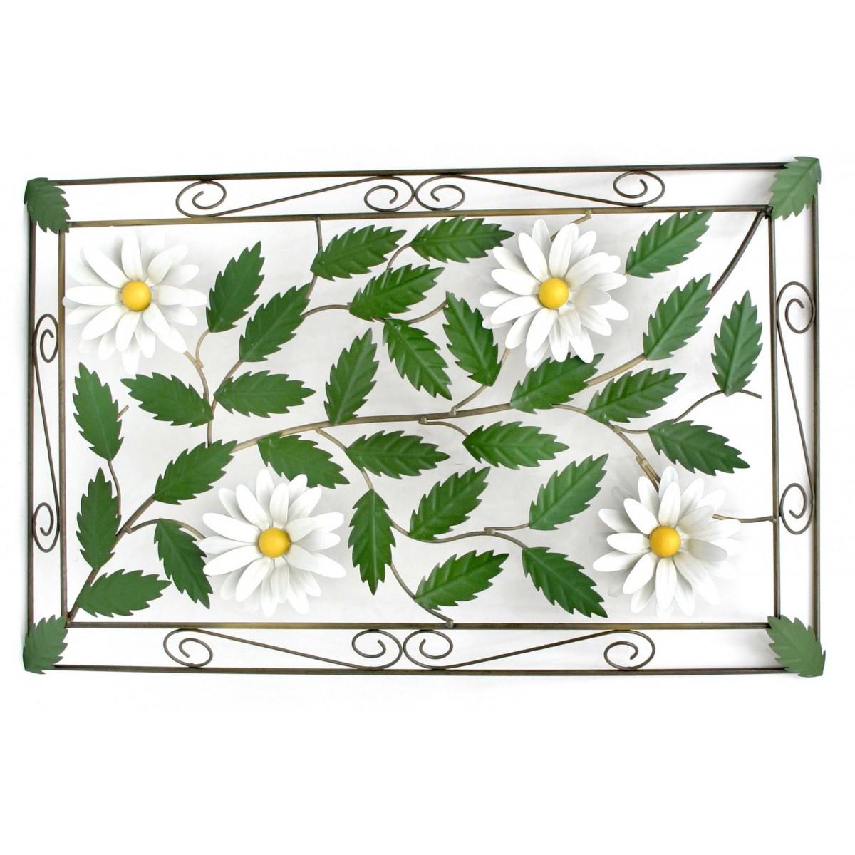 Moldura de Parede Classica com Flores em Ferro Artesanal Mineiro