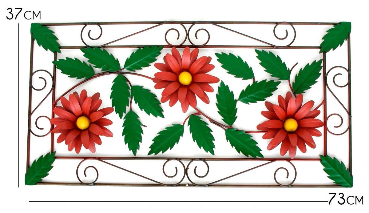Moldura para Parede Sala de Estar Rustica Artesanal com Flores de Ferro