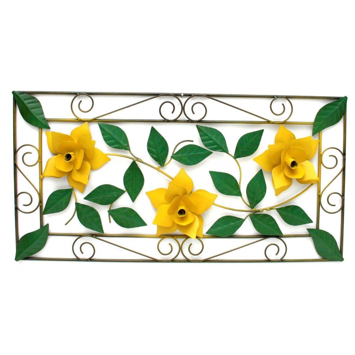 Moldura Decorativa de Ferro para Sala de Jantar Colonial com Flores