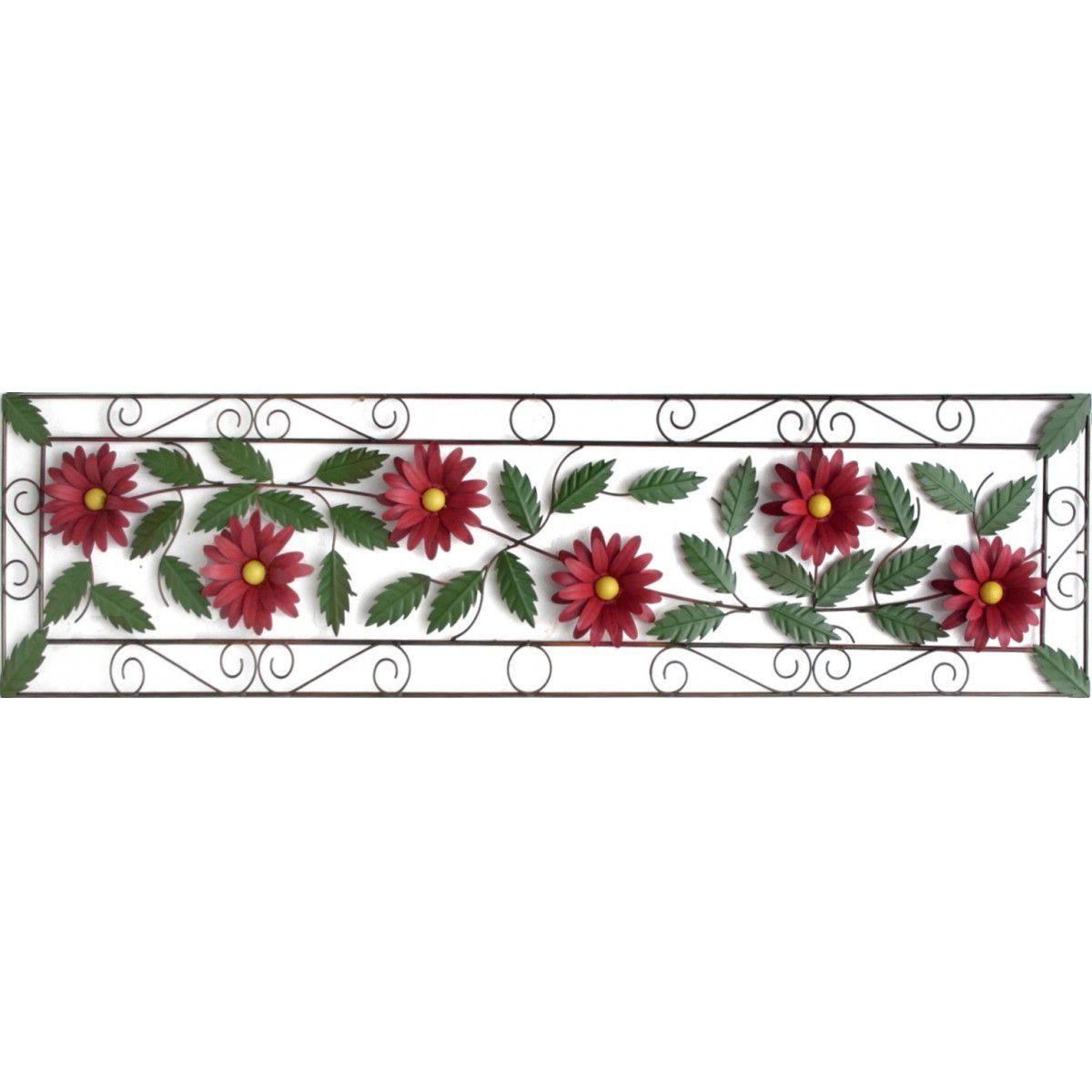 Moldura para Sala de Jantar Grande com Flores Artesanais Rustica
