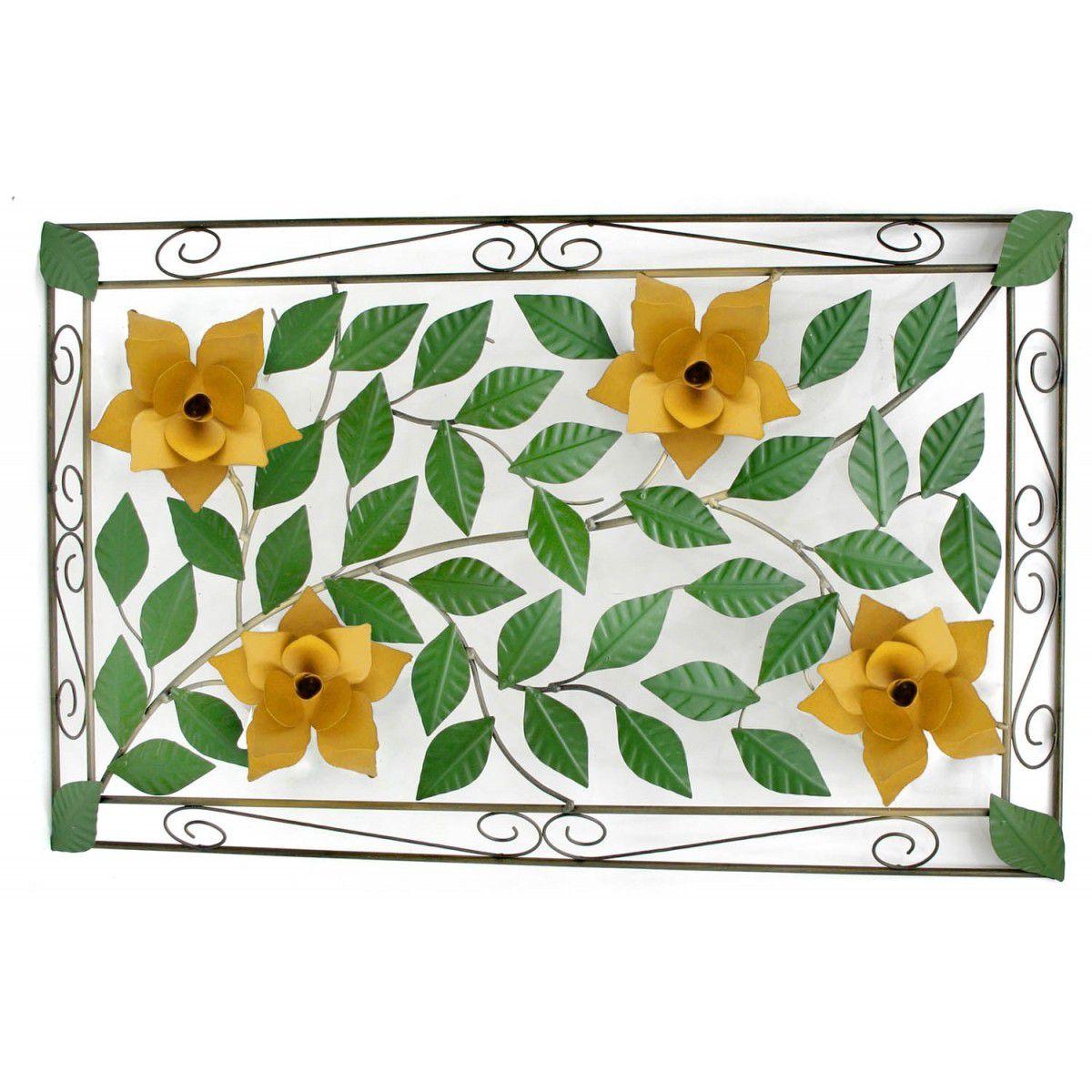 Moldura Rustica com Flores de Ferro Artesanais para Varanda