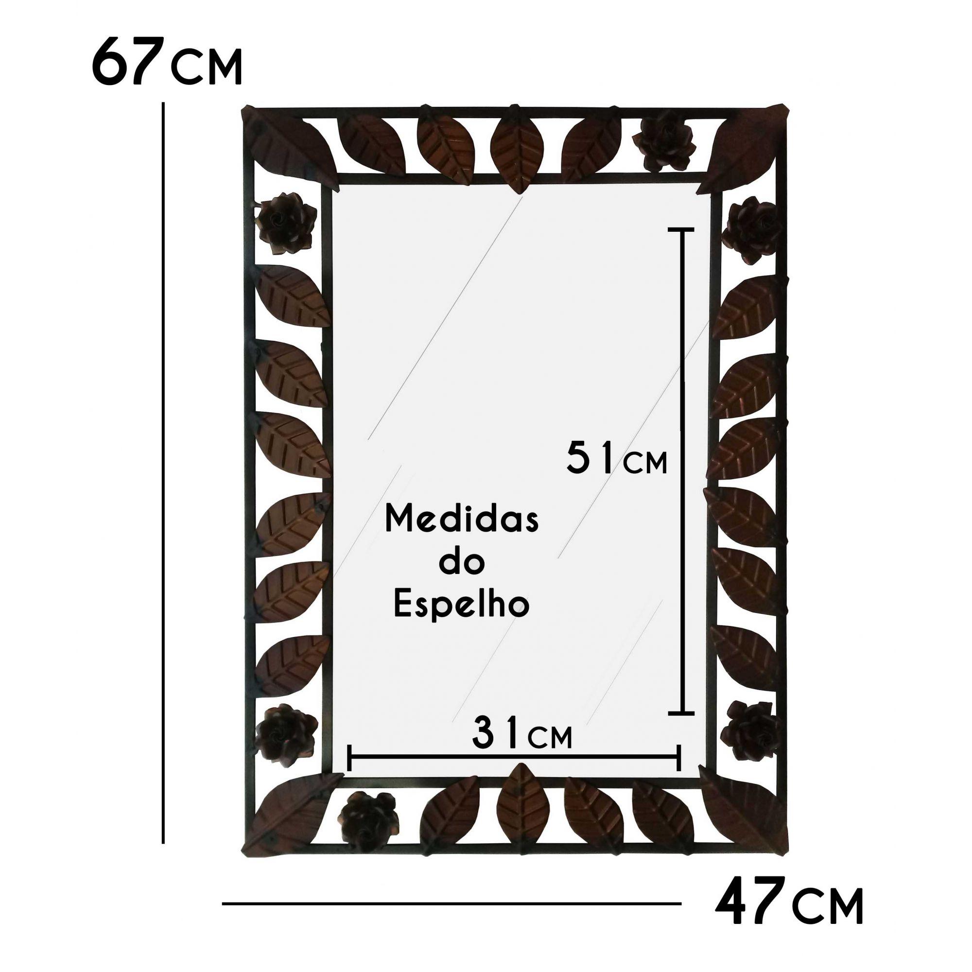 Moldura Rustica Envelhecida para Espelho de Decoração De Banheiro