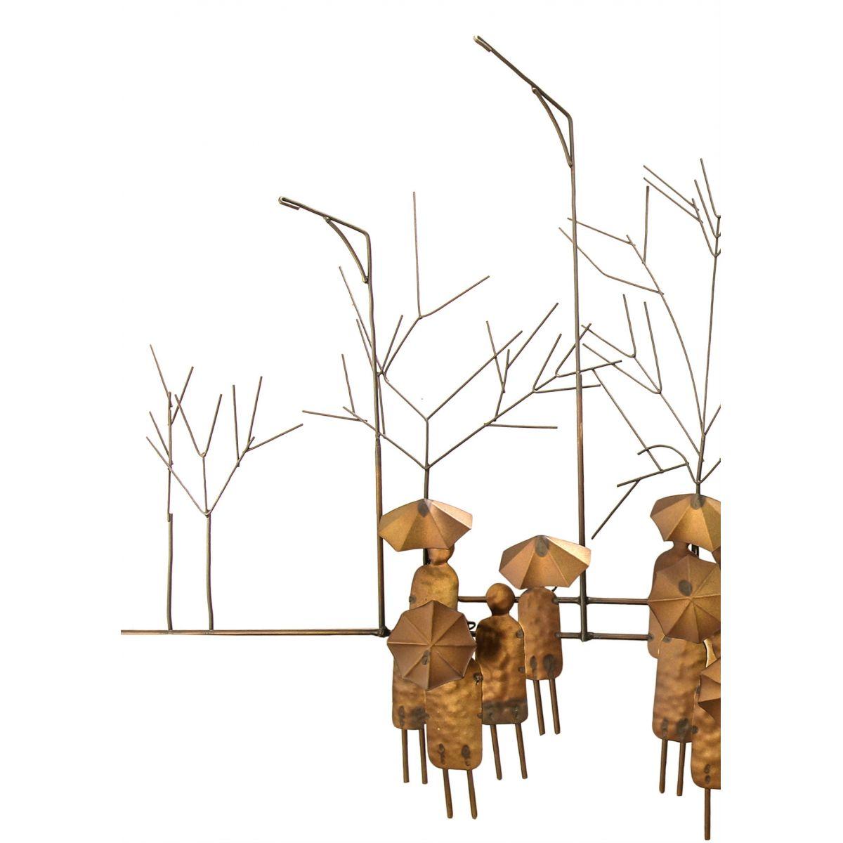 Painel Rustico de Ferro Decorativo para Sala de Jantar Envelhecido Paris