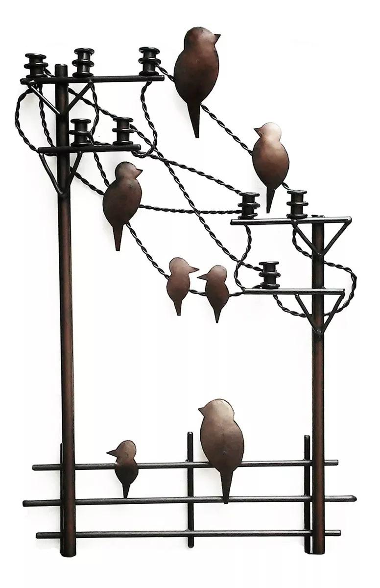 Painel Rustico Artesanal Decorativo de Parede para Sala em Ferro e Lata Moderno
