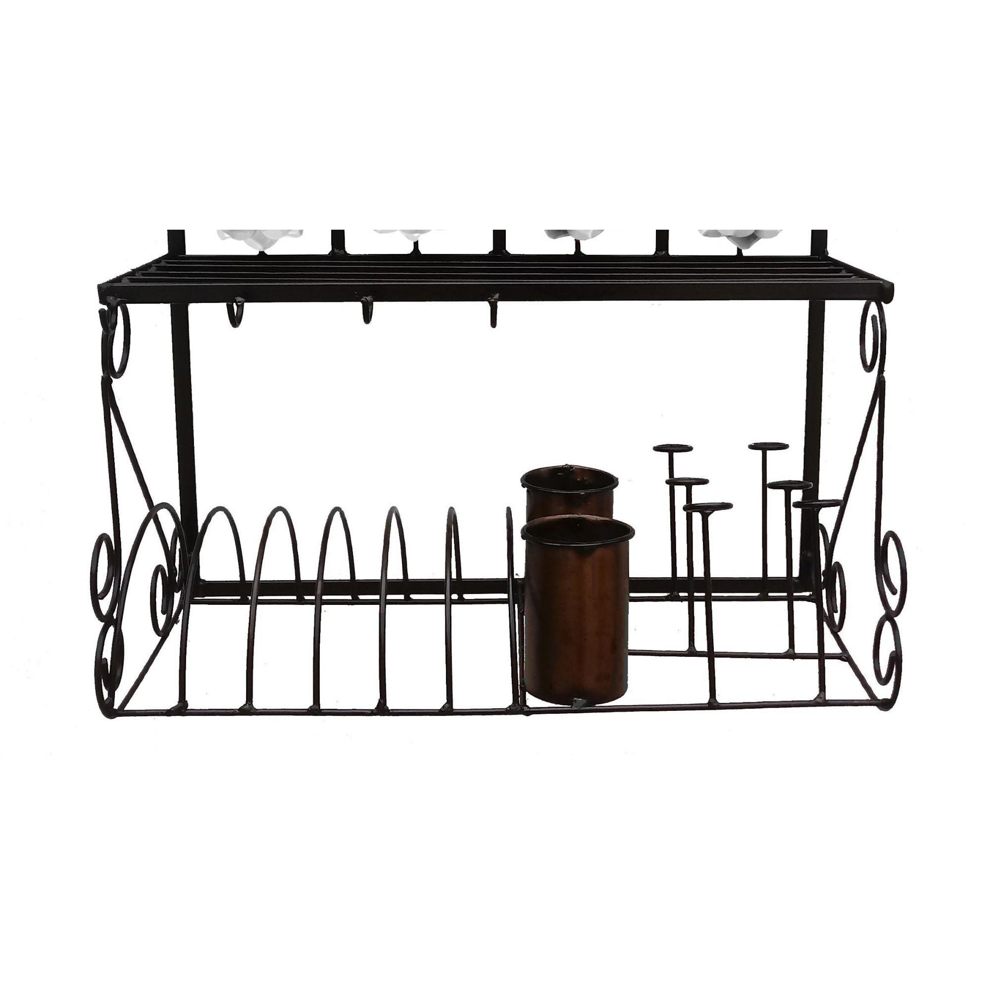Paneleiro Decorativo Para Cozinha Colonial Artesanato em Ferro