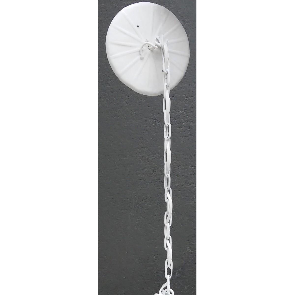 Pendente Com Cristal Lustre Provençal Candelabro de Ferro Rustico