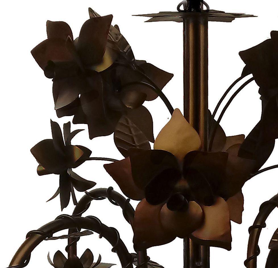 Pendente Decorativo de Metal com Flores para Quarto de Casal Moderno