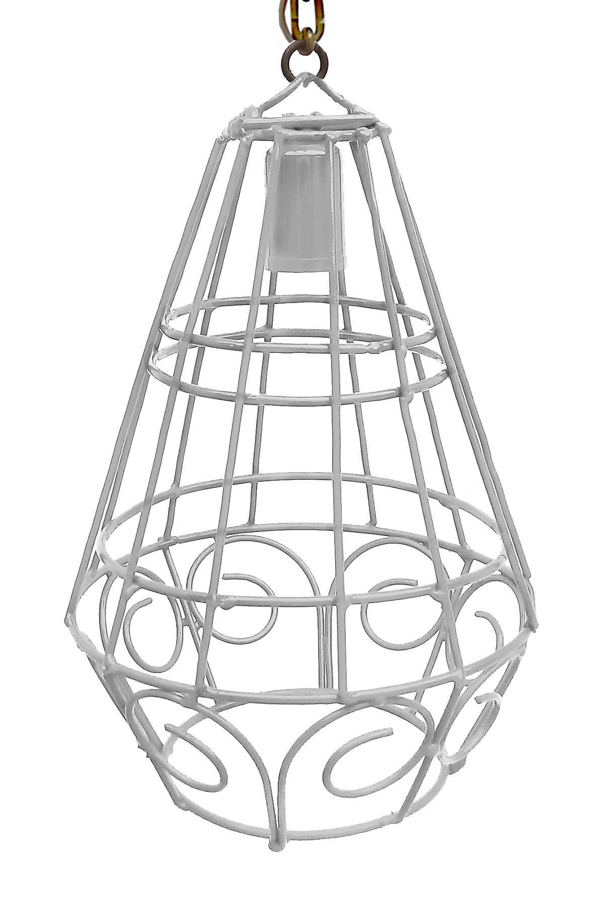 Pendente Decorativo Moderno de Ferro Artesanato para Balcão e Bar 01 Bocal