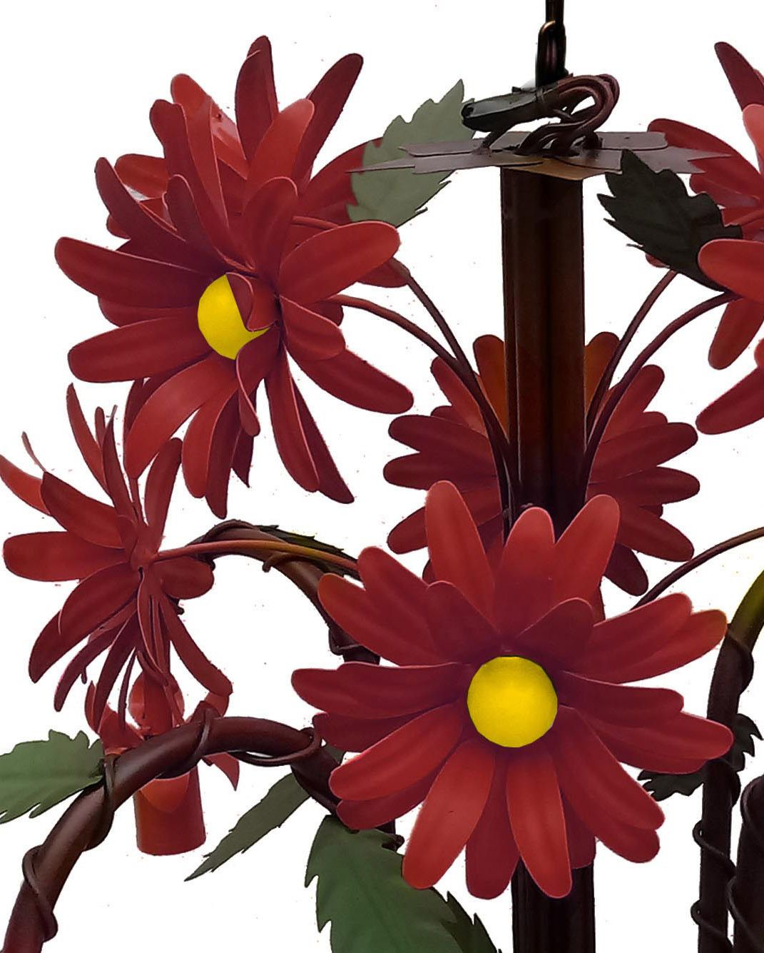 Pendente Lustre de Flores Coloridas Artesanal para Quarto de Casal Grande