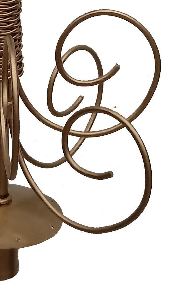 Pendente Moderno Dourado para Sala de Estar Decorativo Ferro