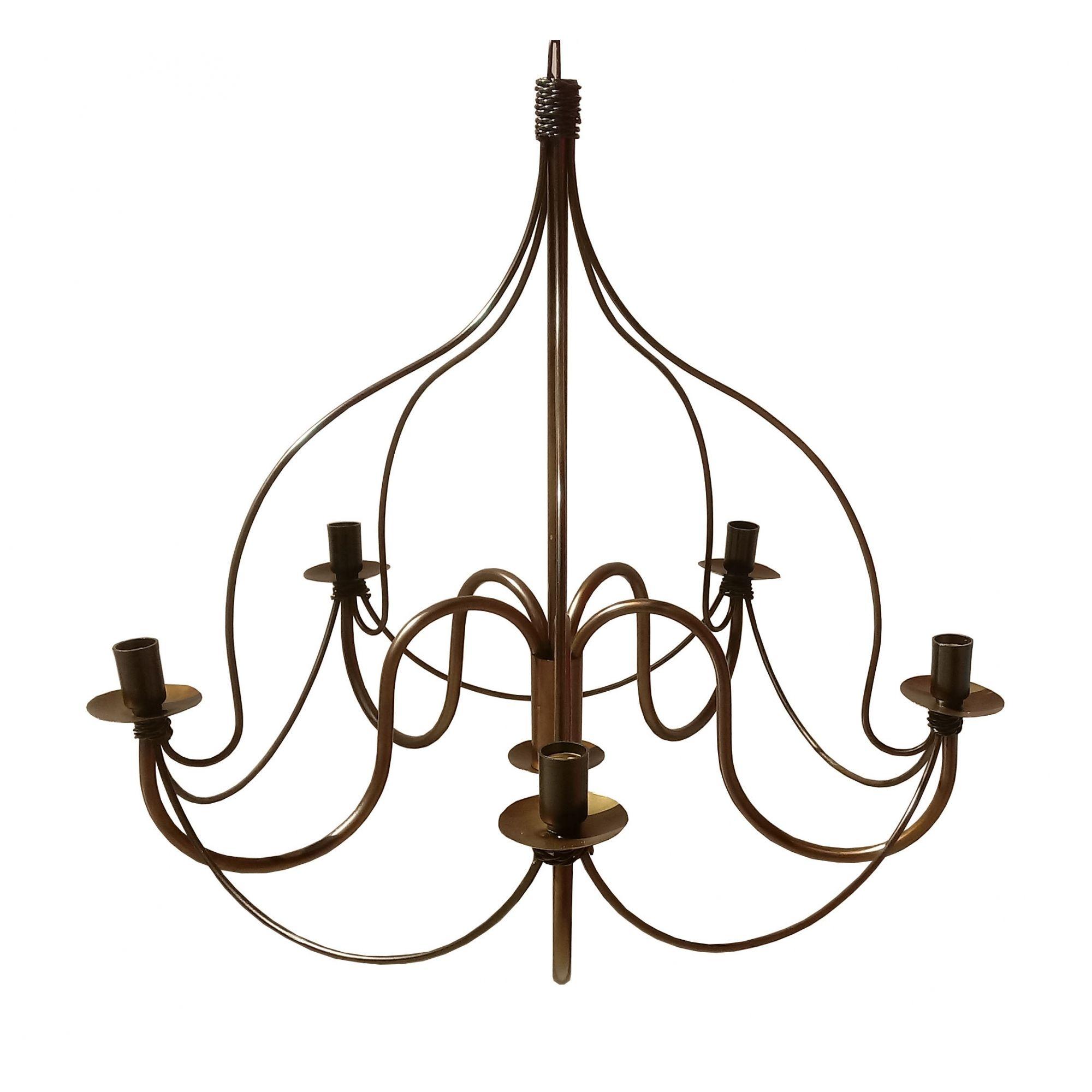 Pendente para Sala de TV Iluminação Decorativo Rustico em Ferro