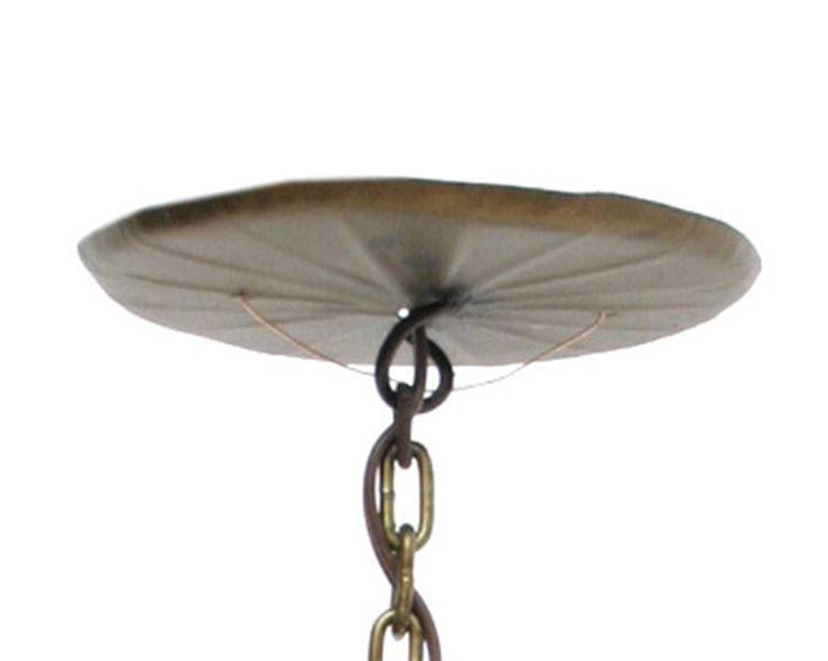 Pendente Simples Artesanal de Metal Iluminação de Casa de Campo