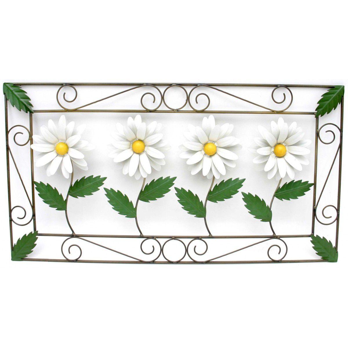 Quadro para Cozinha Rustico com Flores de Ferro Decorativo