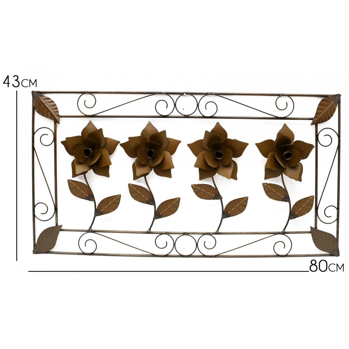 Quadro para Sala de Jantar Rustico de Ferro Artesanal Envelhecido