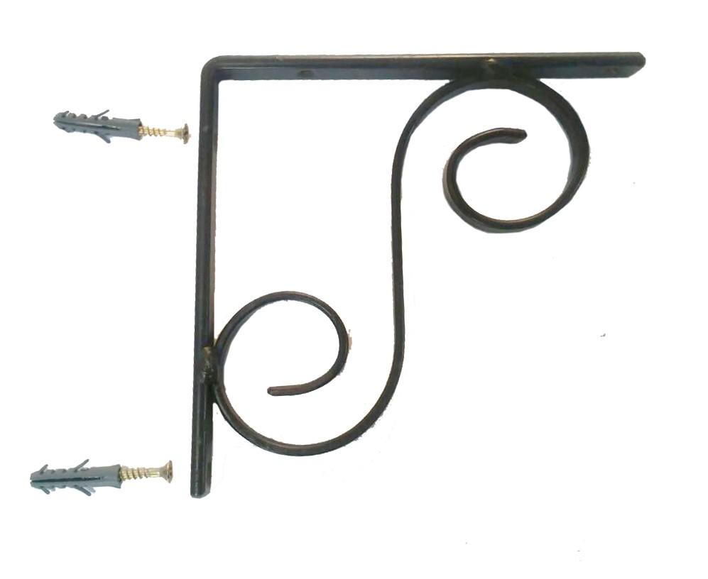 Cantoneira Para Prateleira Artesanal Rustica Colonial Reforçada de Ferro 14 cm
