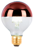 Lâmpada Defletora LED G95 Prata/Rosé