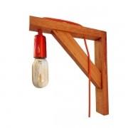 Luminária Mão Francesa Madeira Tradicional