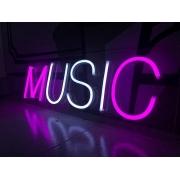 NeonLED Personalizado Texto MUSIC