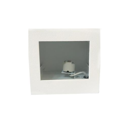 Arandela Cubo Alumínio Médio 1 facho - Alloy