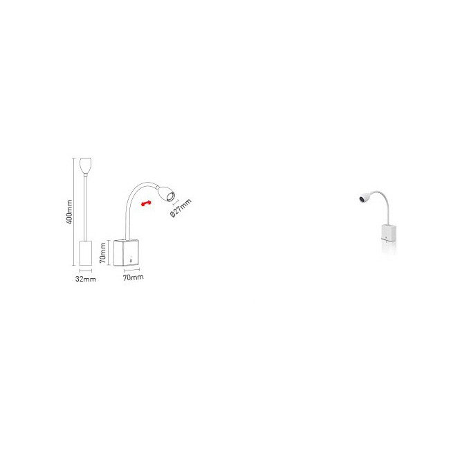 Arandela Flexível Dimerizável LED 1,2W - Interlight