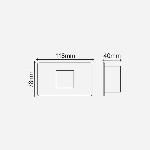 Balizador Embutido de Led 0,65w - Interlight