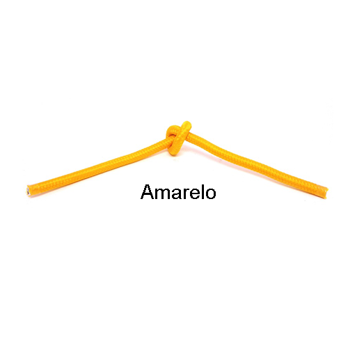 Cabo PP Revestido de Tecido Amarelo - 3 metros