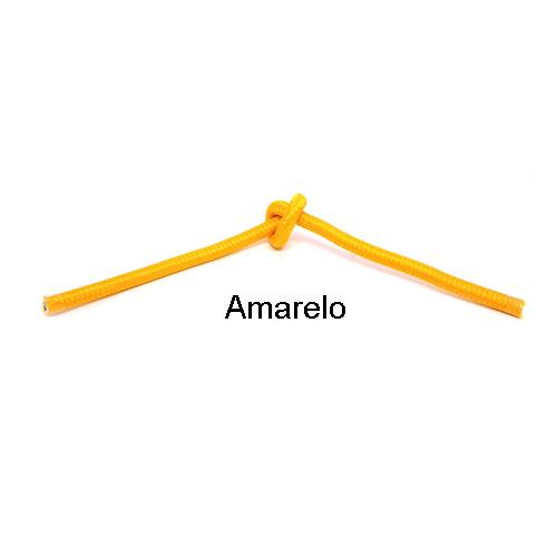 Cabo PP Revestido de Tecido Amarelo - 5 metros