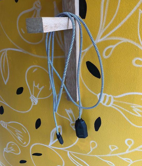 Extensão em cabo de tecido - 2 metros
