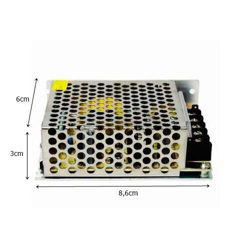 Fonte p/ Fita de LED 36W 12V 3AMP - Starlux