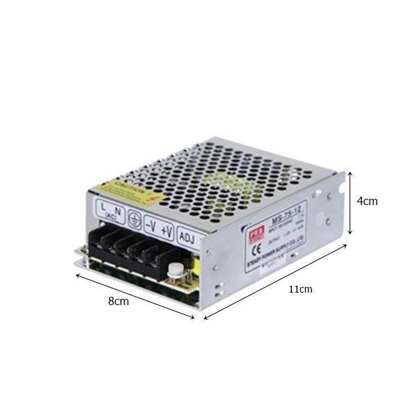Fonte p/ Fita de LED 75W 12V 6,2AMP - Starlux