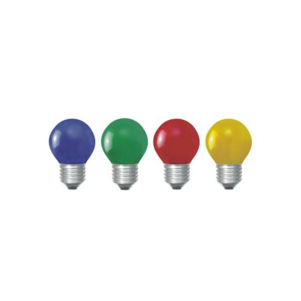 Lâmpada Bolinha Incandescente Colorida 15W E-27