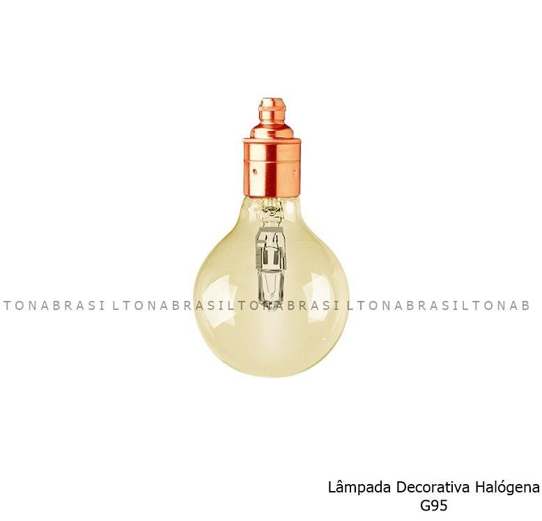 Lâmpada Decorativa Halógena G95 Clara - FLC