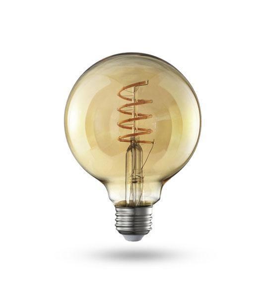 Lâmpada Filamento Espiral LED G95