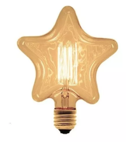 Lâmpada Star Filamento Carbono