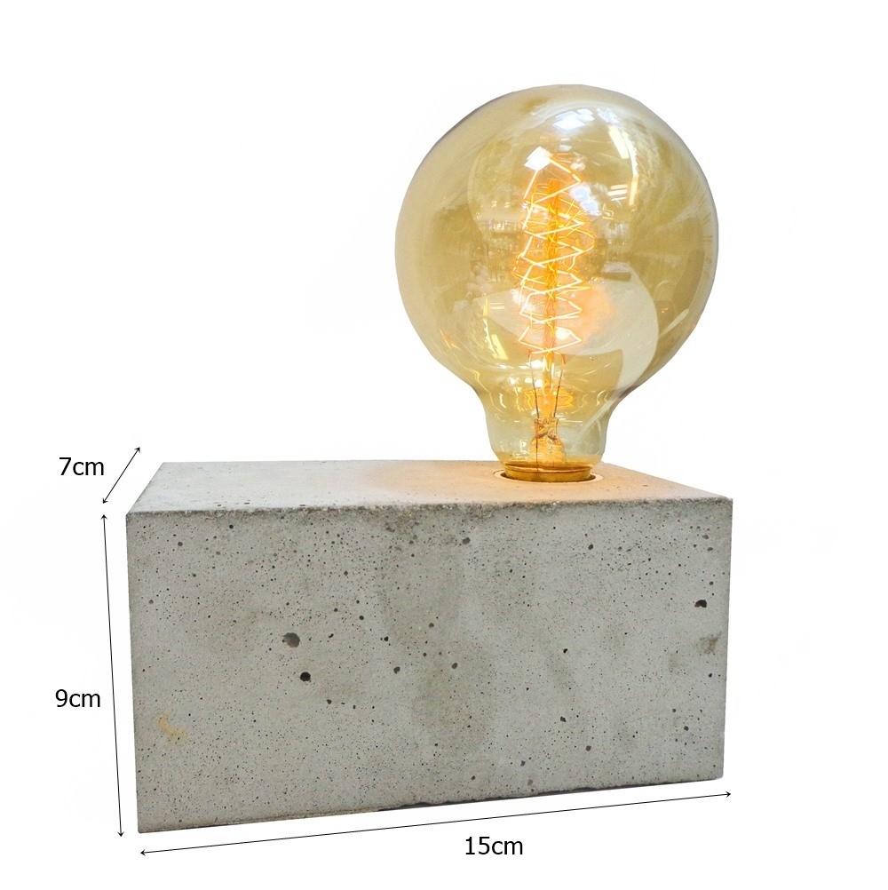 Luminária de Concreto Retangular - Tona Brasil