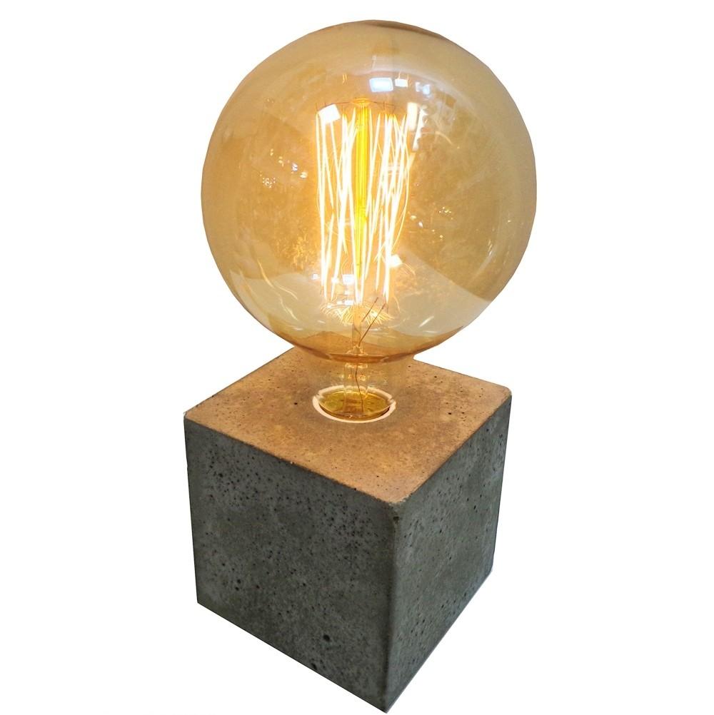 Luminária de Concreto Quadrada - Tona Brasil