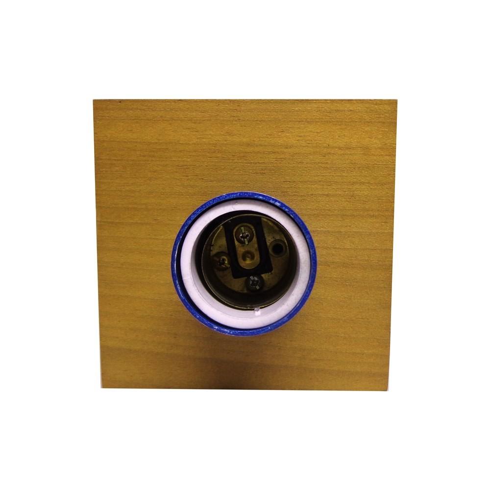 Luminária de Madeira Quadrada P - Tona Brasil